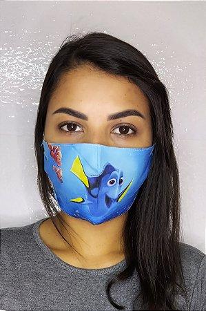 Máscara de Proteção Dupla Sublimada - Dory   procurando Nemo