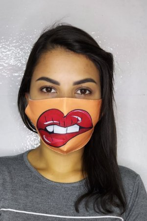 Máscara de Proteção Dupla Sublimada - Boca