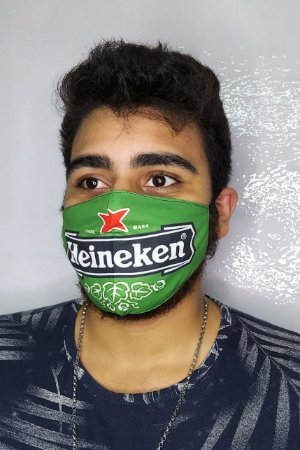 Máscara de Proteção Dupla Sublimada - Heineken