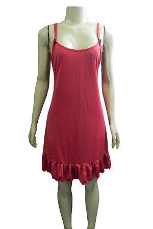 Camisola Plus Size Estampada em Liganete - Vermelho