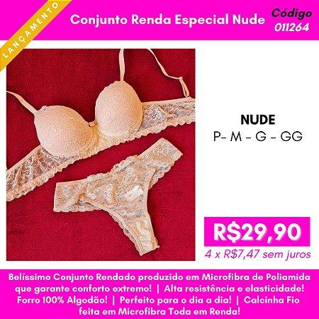 Conjunto Renda Especial - Nude
