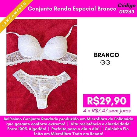 Conjunto Renda Especial - Branco