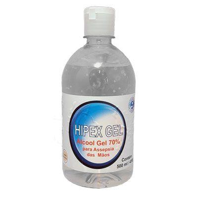 Álcool Gel 450ML 70% Antisséptico Hipex