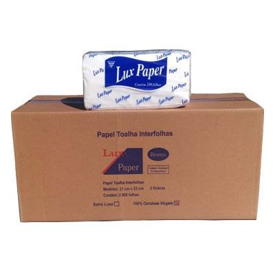 Papel Toalha Duas Dobra C/2500 23x21 100% Celulose Lux Paper