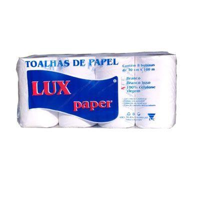 Papel Toalha P/ Bobina 100MT 100% Celulose Lux Paper