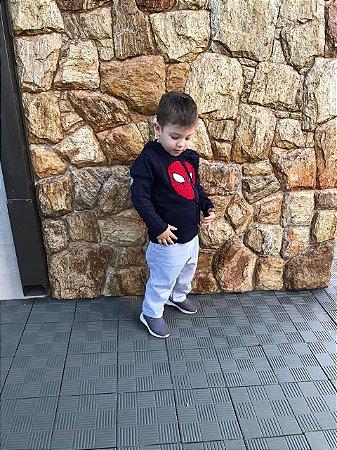 Blusa Tricot Lã Infatil Homem Aranha Cara