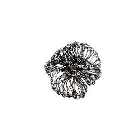 Anel Flume de Crochê em Metal Artesanal Heliana Lages