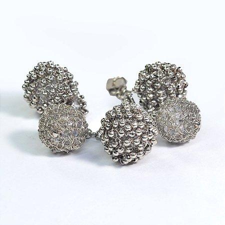 Pulseira Cascata de Crochê em Metal Artesanal Heliana Lages