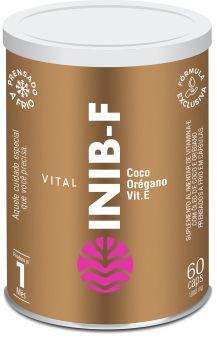 Vital Inib F 1000mg  Vitamina E Com Óleos De Coco E Orégano 60 Cápsulas