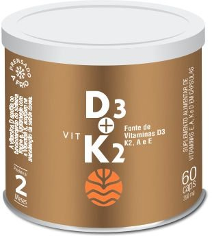 Vit D3 + K2 - 60 cápsulas de 390mg - Vital Atman