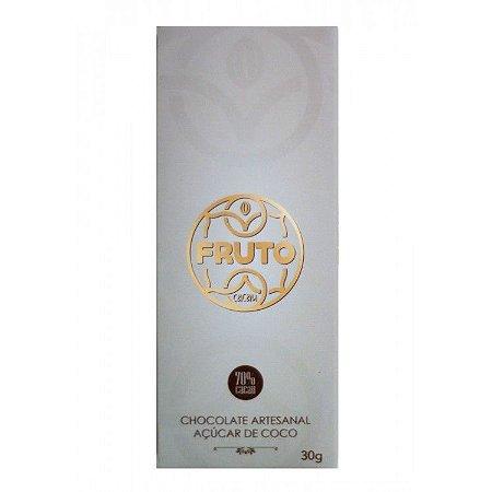 Chocolate 70% Açúcar de Coco Fruto Cacau 30g