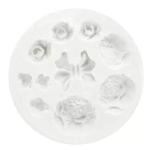 Molde de silicone Diversos Flores e Laços