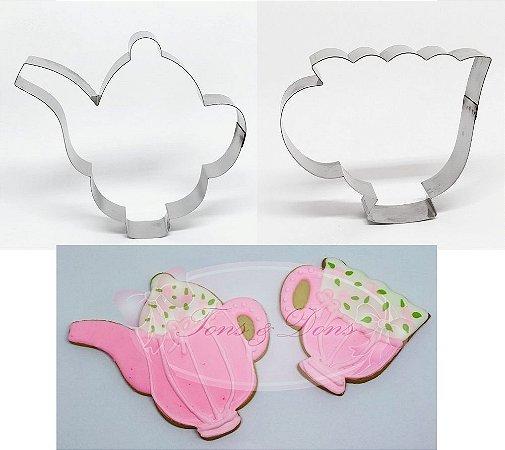 Cortadores de biscoito Xícara e Bule