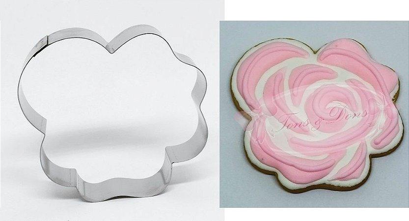 Cortador de biscoito Rosa 8,5x8cm
