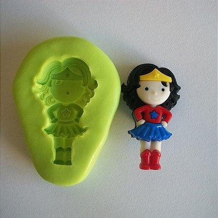 Molde de Silicone Super Girl - Mulher Maravilha - (3,2 cm)