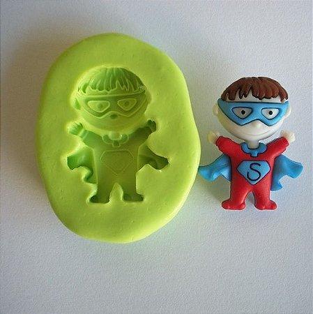 Molde de Silicone Super Heroi - (3 cm)