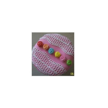 Confeito mini Rosas p/ doces - 1cm - 45 unidades