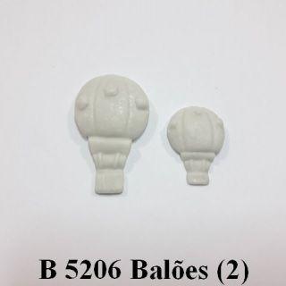 Molde de silicone 2 Balões - 4cm x 2,5cm e 2,5cm x 1,8cm