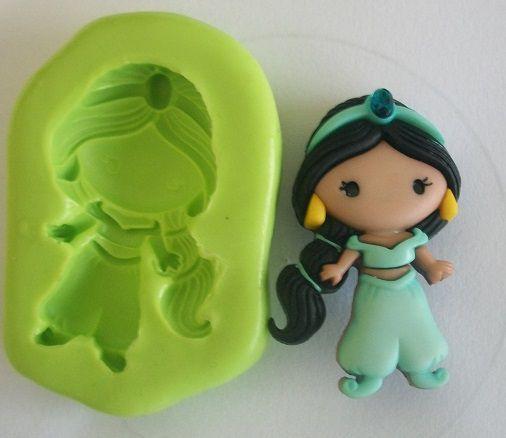 Molde de Silicone Jasmine (Aladdin) (3,8cm)