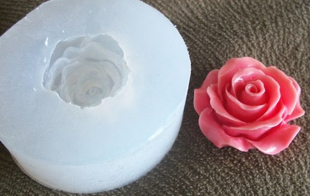 Molde de Silicone Rosa G (3cm)