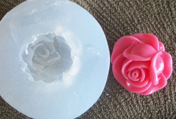 Molde de Silicone Rosa M (2,2cm)