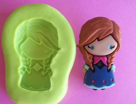 Molde de Silicone Ana Frozen (3,3cm)