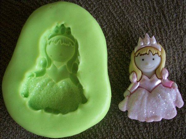 Molde de silicone Princesa Rosa (3cm)