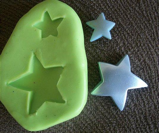 Molde de silicone Estrelas P
