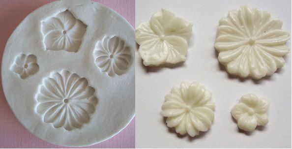 Molde de silicone Flor p/ docinho  (2,7 a 1cm)