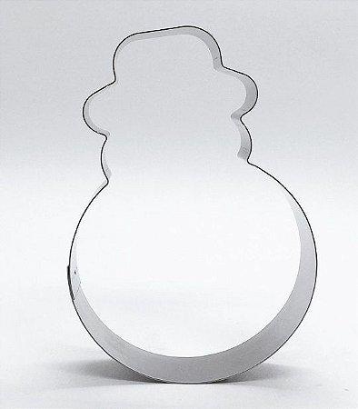 Cortador de biscoito Boneco de Neve 11 x 8cm