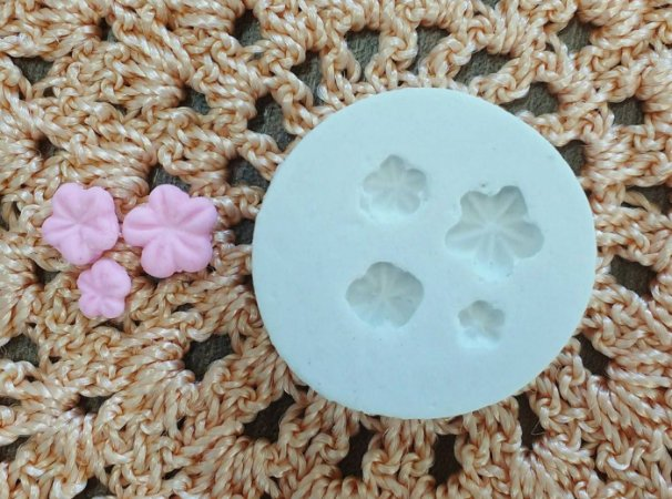 Molde de silicone Mini Flores (3,2cm)