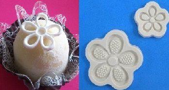 Molde de silicone Flor rendada e vazada (4,3 e 2,3cm)