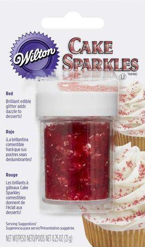 Gliter comestível 7gr - Vermelho - Wilton