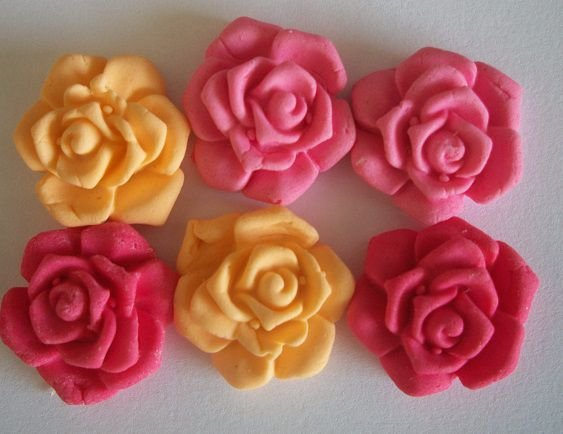 Rosa  (2 cm) 15 unid.