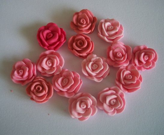 Rosa P (1,5 cm) 30 unid.