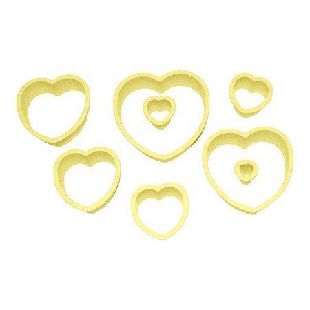 Cortadores de biscoito de corações, 8 peças