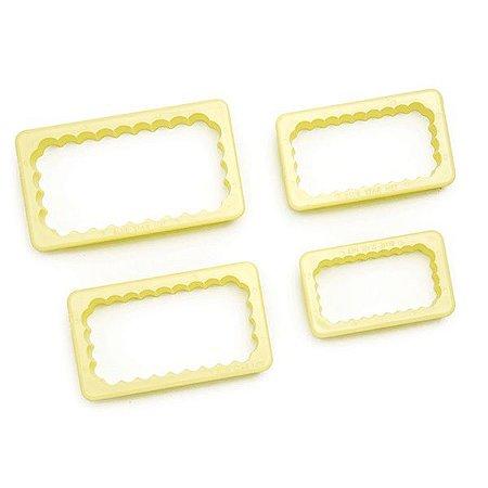 Cortadores Retângulo Babados - 4 peças