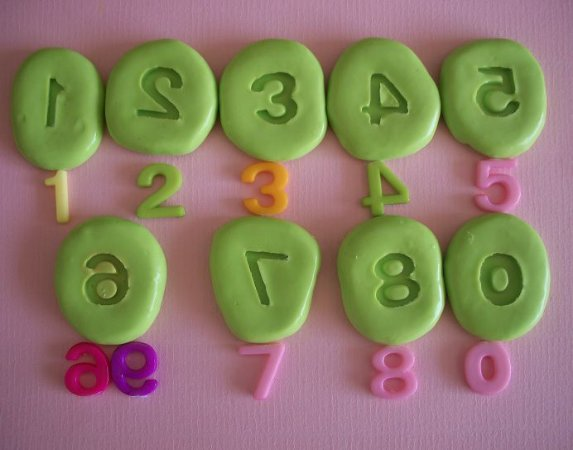 Molde de Silicone Números (1,6x1,5cm)