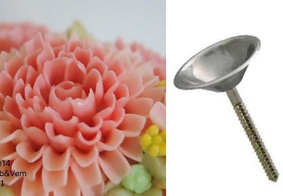 Armador de flores mod. tulipa inox (4,4cm)