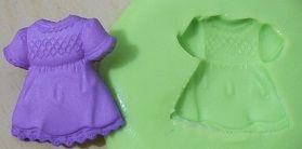 Molde de Silicone Vestido (2cm)