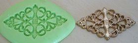 Molde de Silicone Renda para docinho ou cupcake  (4,8cm)
