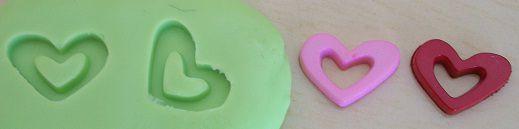 Molde de Silicone Mini coração vazado (1,3cm)