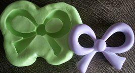 Molde de Silicone Laço p/ bolo ou cupcake (4,5cm)