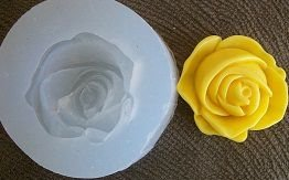 Molde silicone Incolor Rosa amarela (3cm)