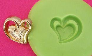 Molde de Silicone Coração vazado (1,5cm)
