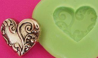 Molde de Silicone Coração P (1,9cm)