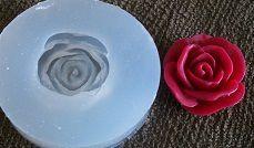 Molde silicone Incolor Rosa bordô (2cm)
