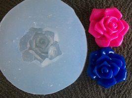 Molde silicone Incolor Rosa azul (2cm)