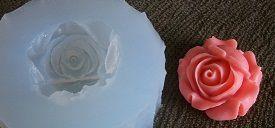 Molde silicone Incolor Rosa (3cm)