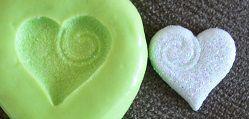 Molde de Silicone Coração branco  (2cm)